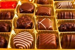 Caramelos de chocolate Imagen de archivo