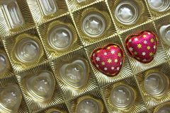 Caramelos de chocolate Fotos de archivo