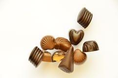 Caramelos de chocolate Imágenes de archivo libres de regalías