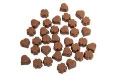 Caramelos de chocolate aislados Imagenes de archivo
