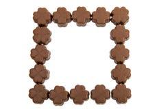 Caramelos de chocolate aislados Imagen de archivo libre de regalías