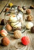 Caramelos de chocolate de lujo fotografía de archivo
