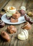Caramelos de chocolate de lujo fotos de archivo libres de regalías