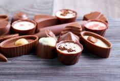 Caramelos de chocolate de muchas clases Imagen de archivo libre de regalías