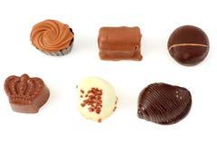 Caramelos de chocolate exquisitos Imágenes de archivo libres de regalías