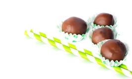 Caramelos de chocolate hechos en casa Foto de archivo