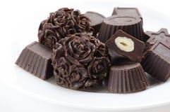 Caramelos de chocolate hechos en casa Imagenes de archivo