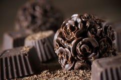 Caramelos de chocolate hechos en casa Fotografía de archivo libre de regalías