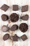 Caramelos de chocolate hechos en casa Imagen de archivo