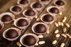 Caramelos de chocolate hechos en casa Foto de archivo libre de regalías
