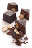 Caramelos de chocolate quebrados Imagen de archivo libre de regalías
