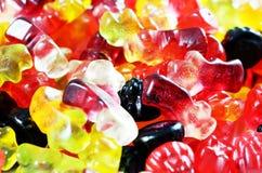 Caramelos de la haba de jalea como fondo Imágenes de archivo libres de regalías