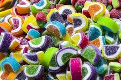 Caramelos de la jalea y jalea coloridos Imagenes de archivo