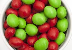 Caramelos de la Navidad - derecho Fotografía de archivo