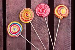 Caramelos de la piruleta Foto de archivo libre de regalías