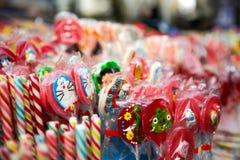 Caramelos de la piruleta Fotografía de archivo libre de regalías