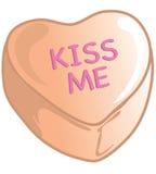 Caramelos de la tarjeta del día de San Valentín anaranjados Foto de archivo libre de regalías