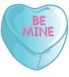 Caramelos de la tarjeta del día de San Valentín azules Imagenes de archivo