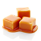 Caramelos del caramelo y salsa del caramelo Imagen de archivo