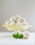 Caramelos del coco con la menta Imagen de archivo