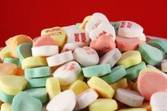 Caramelos del corazón Fotografía de archivo libre de regalías