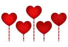Caramelos del corazón del diseñador con los modelos ilustración del vector