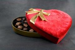 Caramelos del día de tarjeta del día de San Valentín Imagenes de archivo