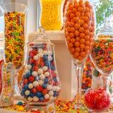 Caramelos dulces de la tienda de la confitería Imagen de archivo