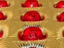 Caramelos en bandeja de la hoja Fotos de archivo