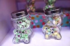 Caramelos en botellas Imagenes de archivo