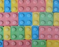 Caramelos en colores en colores pastel Fotografía de archivo