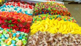 Caramelos en el mercado Imágenes de archivo libres de regalías