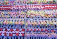 Caramelos en el mercado, Tailandia Imágenes de archivo libres de regalías