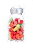 Caramelos en el tarro de cristal Foto de archivo libre de regalías