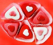 Caramelos en forma de corazón Imagen de archivo libre de regalías