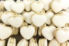 Caramelos en forma de corazón blancos Fotografía de archivo libre de regalías