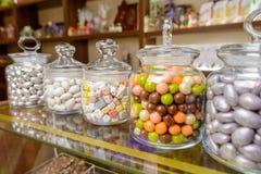 Caramelos en tarro Fotografía de archivo