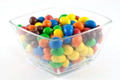 Caramelos en un tazón de fuente Fotos de archivo