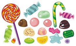 Caramelos fijados Imágenes de archivo libres de regalías
