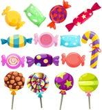 Caramelos fijados Fotos de archivo libres de regalías