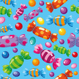 Caramelos inconsútiles del modelo azules Fotos de archivo libres de regalías
