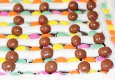 Caramelos la torta, torta del caramelo, torta colorida imagenes de archivo