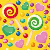 Caramelos lindos del modelo inconsútil ilustración del vector
