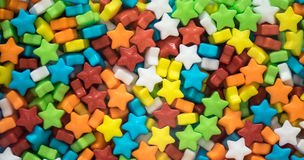 Caramelos multicolores de las estrellas fotos de archivo libres de regalías