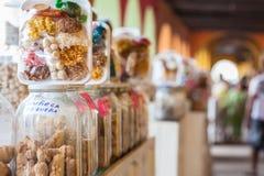 Caramelos porta Imágenes de archivo libres de regalías