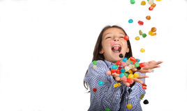Caramelos que caen Foto de archivo