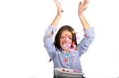 Caramelos que caen Imagen de archivo libre de regalías