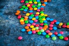 Caramelos redondos coloridos Foto de archivo