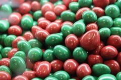 Caramelos rojos y verdes Fotografía de archivo libre de regalías