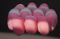 Caramelos rosados de la fresa Fotografía de archivo libre de regalías